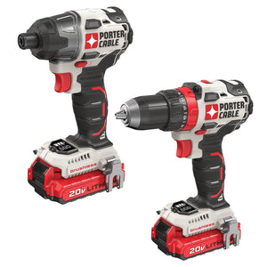 Porter-Cable PCCK619L2 20-Volt 2-Tool Brushless Dill and Impact Driver Combo Kit