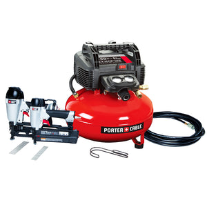Porter-Cable PCFP12656 6 Gallon 150 Psi Compressor Nailer and Brad Combo Kit