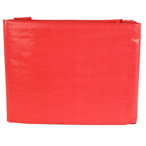 Weather Guard R006008 6' x 8' Red Heavy Duty U.V. Tarp (Finished Size is 5'-6'' x 7'-6'')