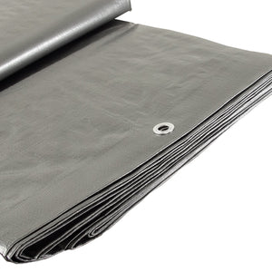 Silver 14x14 Heavy Duty UV Protected Treated Canopy Sun Shade Boat Cover Tarp