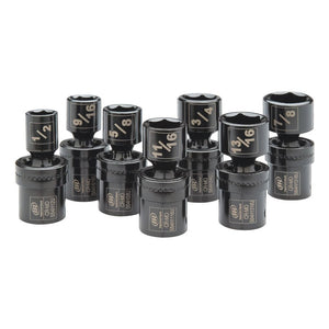 Ingersoll Rand SK4H7UN 7-Piece 1/2 - 7/8-Inch SAE Universal Impact Socket Set
