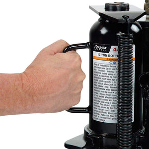 Sunex 4412AH 12-Ton Durable Powerful Pump-Free Air Hydraulic Bottle Jack