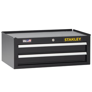 Stanley STST22625BK 26-Inch 300-series 2-Drawer Storage Middle Chest - Black