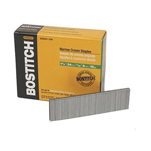 Bostitch SX50351-38G 1-3/8'' 18 gauge 7/32'' Narrow Crown Finish Staples