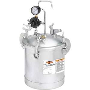 Shop Fox W1799 2-1/4 Gallon Paint Tank Galvanized Steel 45 Psi Max Pressure