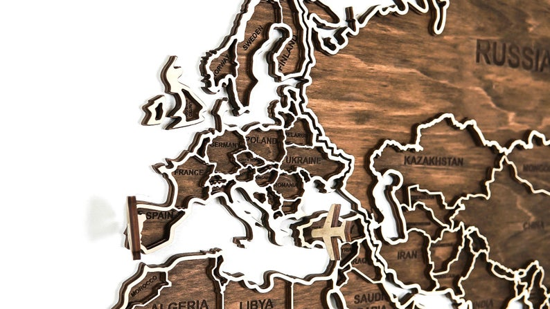Wooden world map, World Map, Wall world map, Decor travel map, Office decor, Map of the world