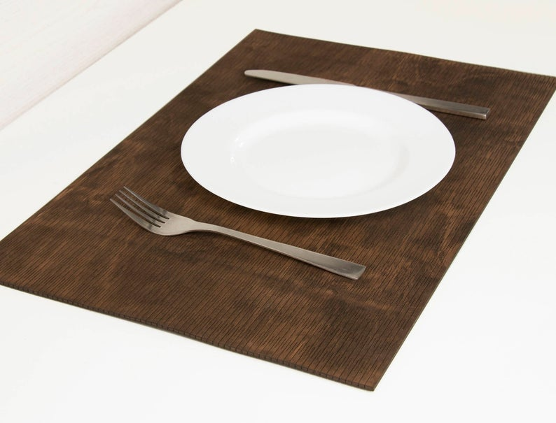 PLACEMATS SET Wood placemats Kitchen accessories Housewarming gift Easy to store and Made to last