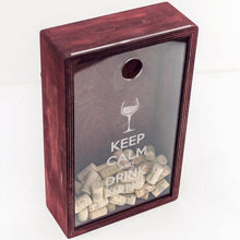 Load image into Gallery viewer, Wine cork  box,  Wine cork display, Wedding gift,  Bridal shower gift, Wine lover gift idea