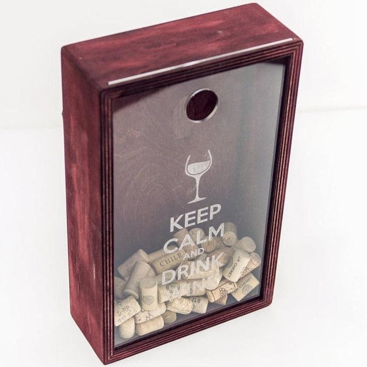 Wine cork  box,  Wine cork display, Wedding gift,  Bridal shower gift, Wine lover gift idea