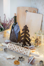 Load image into Gallery viewer, Table Centerpiece, Wine Bottle Holder, Candle Holder, Wooden Candle Holder, Wood Candle Holder, Christmas Candle Holder, Tealight Holder