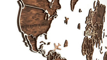 Load image into Gallery viewer, Wooden world map, World Map, Wall world map, Decor travel map, Office decor, Map of the world