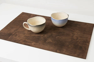 Wooden table placemat set of 2,  Kitchen accessories, Housewarming gift,  Easy to store and Made to last