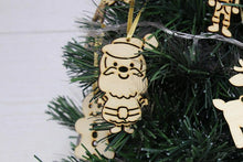Load image into Gallery viewer, Wood Christmas Ornaments, Wooden Christmas Decorations, Wooden Christmas Ornaments, Christmas Ornaments, Christmas Tree Topper