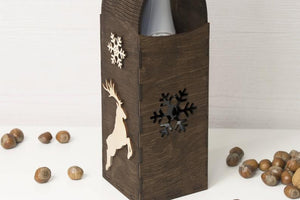 Wine Box, Wine Bag, Wine Tote, Wooden Wine Box, Wood Wine Box, Doctor Gift, Gift For Doctor, Christmas Wine, Wine Bottle, Champagne