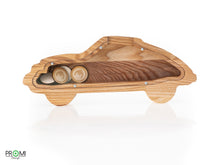 Load image into Gallery viewer, Wooden car Money Bank, Money Box, Piggy Bank,  Baby Bank, Newborn Gift, Baby Shower Gift