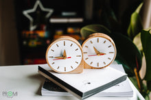 Load image into Gallery viewer, White  Wooden Desk Clock, Desk clock gift, Desk decor,  Desk clock wood, Oak wood clock