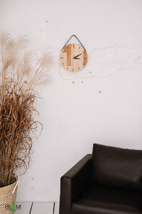 Wooden designer clock, Unique style, One of a kind clock for your home,  Rustic wooden wall clock