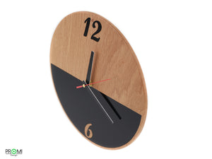 Modern design clock, Style your home, Acrylic detail clock, Wall clock in style, Black/Brown wall clock
