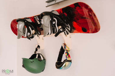 Wall Rack for Skateboard, Wakeboard, Snowboard, Keep Your Boards Tidy, Wall Holder, No More Falling Boards and Helmets.
