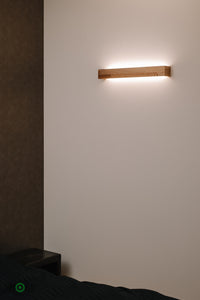 Wooden Wall Light with LED, Warm Evening Light, Style your Wall, Cozy Light in Your Room, Beautiful Wooden Design