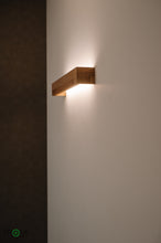 Load image into Gallery viewer, Wooden Wall Light with LED, Warm Evening Light, Style your Wall, Cozy Light in Your Room, Beautiful Wooden Design