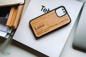 Wood Case for iPhone 12 pro, Customized slim wooden phone case, Perfect gift idea, Light and strong