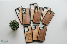 Load image into Gallery viewer, Wood Case for iPhone 12 pro, Customized slim wooden phone case, Perfect gift idea, Light and strong