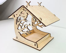 Load image into Gallery viewer, Wooden birdhouse for garden, Naturalal bird feeder, Wooden bird house, Garden gifts for parents, friends, Housewarming gift