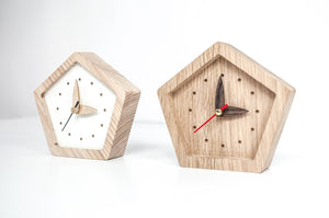 Desk Clock, Table Clock, Wood Clock, Small Clock, Desk Accessories, Father Of The Bride Gift