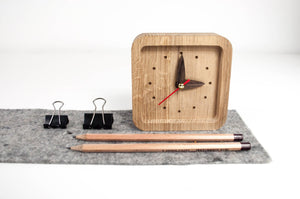 Wood Clock, Table Clock, Desk Clock, Desk Clocks, Rustic clock, Desk Gift For Her, Boyfriend Christmas Gift, Desk Decor, Desk Decor Clock