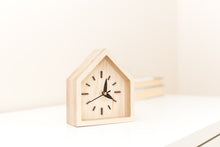 Load image into Gallery viewer, Desk clock wood - Desk clock gift - Rustic gift for him - Desk accessories - Rustic gift parents