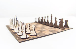 Chess Set, Chess, Chess Board, Checkers, Board Game, Board Game Table, Toddler Gift, Travel Game