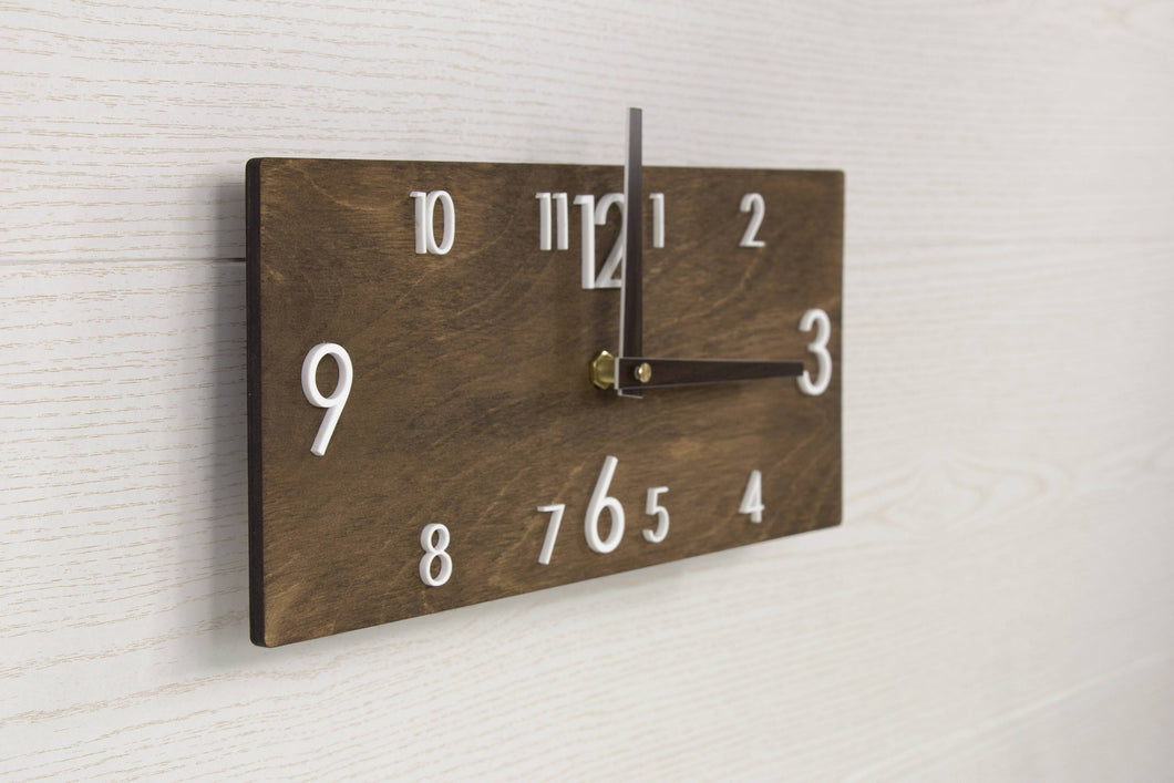 Modern wall clock - Wooden wall clock - Wall clock wood - Rustic wall clock - Silent wall clock - Wood clock - Large wall clock - Wall decor