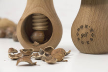 Load image into Gallery viewer, Wooden nuts cracker, Don't get nuts, Wooden cracker, Nut Clamper, Housewarming Gift