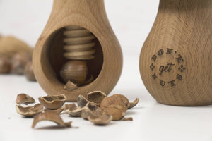 Wooden nuts cracker, Don't get nuts, Wooden cracker, Nut Clamper, Housewarming Gift