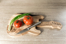 Load image into Gallery viewer, Chopping Board Wood,Chopping Board Gift, Guitar,Husband Gift Wood, Wooden Guitar
