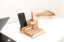 Load image into Gallery viewer, Desk Organizer, Pencil Holder, Pen Holder, Phone Holder, Desk Accessories, Office Desk Accessories, Boyfriend Christmas Gift, Gift for Boss