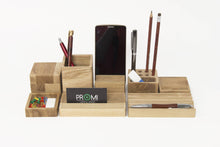 Load image into Gallery viewer, Desk Organizer, Desk Accessories, Office Desk Accessories, Pencil Holder, Phone Holder, Pen Holder, Wood Organizer, Entryway Organizer
