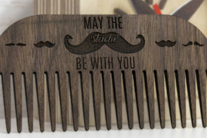 Mustache Comb - Beard Brush - Beard Grooming - Beard Comb - Wooden Comb - Wood Comb