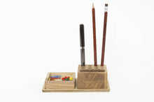 Load image into Gallery viewer, Desk organizer gift - Desk organizer for him-Desk gift for Christmas-Wood gift Christmas