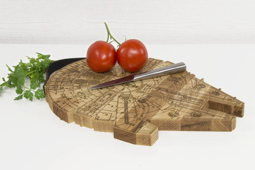 Personalized Cutting Board, Millenium Falcon, Chopping Board, Wood Cutting Board