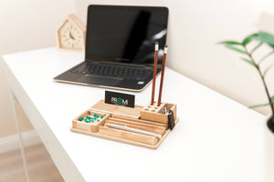 Desk Organizer, Desk Accessories,  Pencil Holder Gift, Desk Accessories Wood