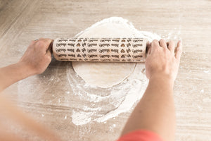 Engraved Rolling Pin, Embossed Rolling Pin, Wooden Rolling Pin, Cookie Stamp, Christmas Cookies