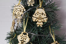 Load image into Gallery viewer, Wooden Christmas Decorations, Wood Christmas Ornaments, Christmas Decoration, Tree Topper