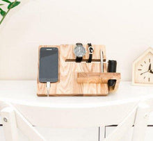 Load image into Gallery viewer, Wooden Docking Station,  Boyfriend Christmas Gift, Christmas Gift for Husband