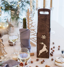 Load image into Gallery viewer, Wine Bag, Wine Box, Wooden Wine Box, Custom Wine Box, Christmas Wine, Wedding Wine Gift
