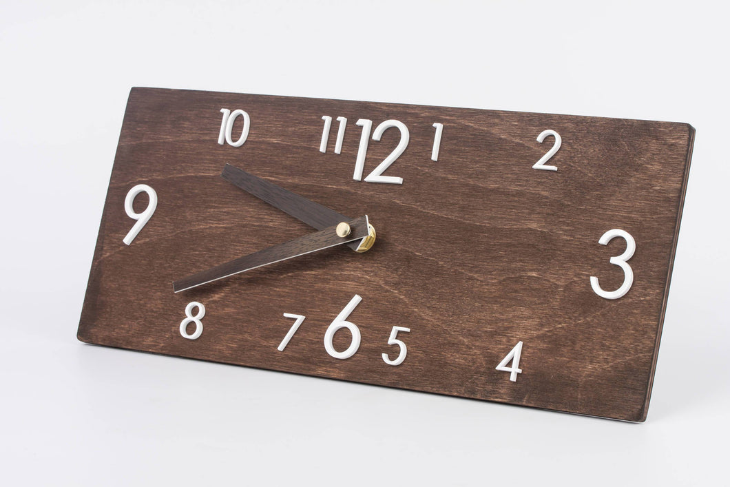 Rustic Wall Clock - Wooden Clock - Silent Wall Clock - Modern Wall Clock - Farmhouse Wall Clock