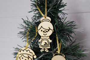 Wooden Christmas Decorations, Wood Christmas Ornaments, Christmas Decoration, Tree Topper