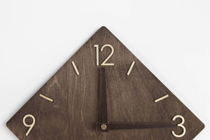 Rustic Clock, Modern Clock, Wood Clock,, Wood Clock Modern, Wall Clocks Wood, Newlyweds Gift