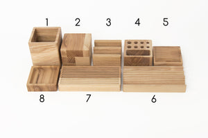 Desk Organizer, Desk Accessories, Office Desk Accessories, Pencil Holder, Phone Holder, Pen Holder, Wood Organizer, Entryway Organizer